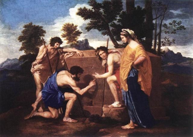 Nicolas Poussin Pastores de la Arcadia  y el Esoterismo Masónico Nicola10