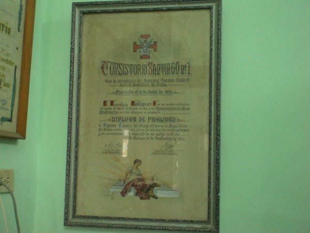 Supremo Consejo del Grado 33º para la República de Cuba Su1510