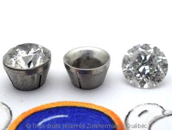 Boucle oreille diamants avec chaton en palladium Bopab011