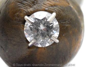 Boucle oreille diamants avec chaton en palladium Bopab017