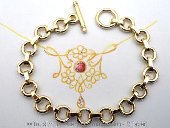 Bracelet or '' Héméra '' Brso1610