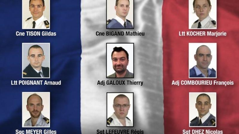 Neuf militaires Français, dont une femme-officier, figurent parmi les victimes de l'accident du chasseur F-16 qui s'est écrasé lundi sur une base de l'Otan Phob5810