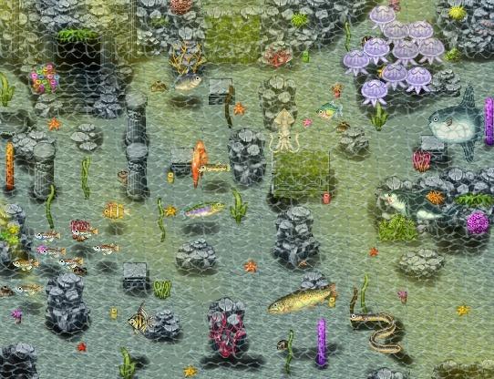 Votes du concours de mapping à thème n°12 : L'univers marin. Maap10