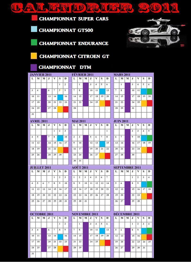 Calendrier de tous les championnats GTracings Calend11