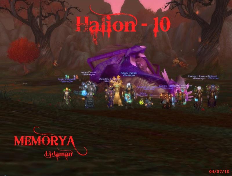 Sanctuaire de la guilde Memorya - Portail Halion10