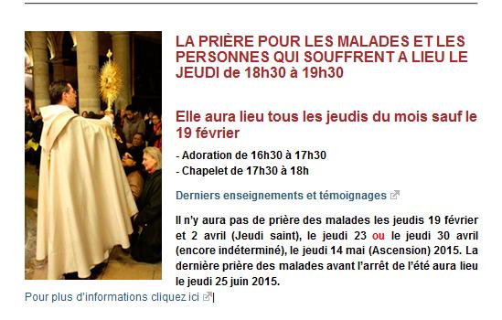 Eglise St.Nicolas des Champs, Teev Ntuj rau cov neeg mob nyob Paris Captur10