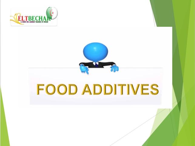 Food additives  Food_a10