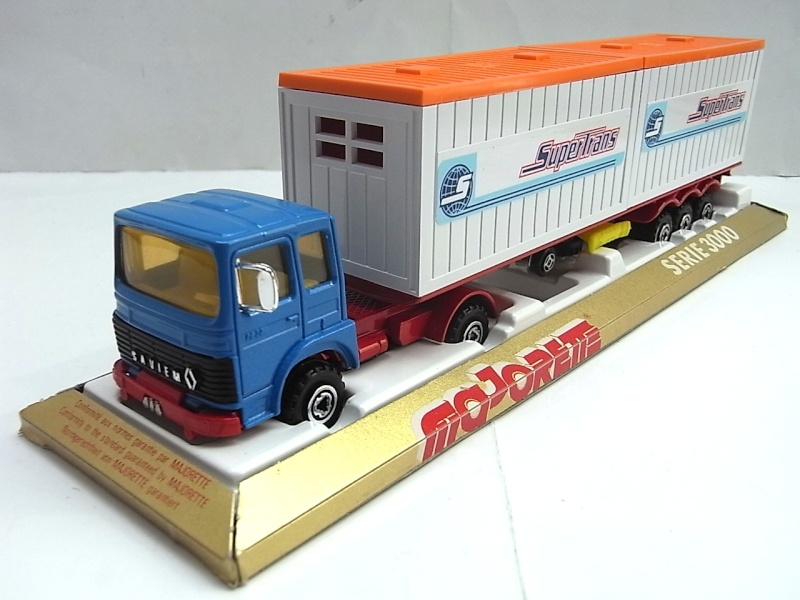 """N°3062 RENAULT SAVIEM PS30 2x20"""" DOUBLE CONTAINER  063a10"""