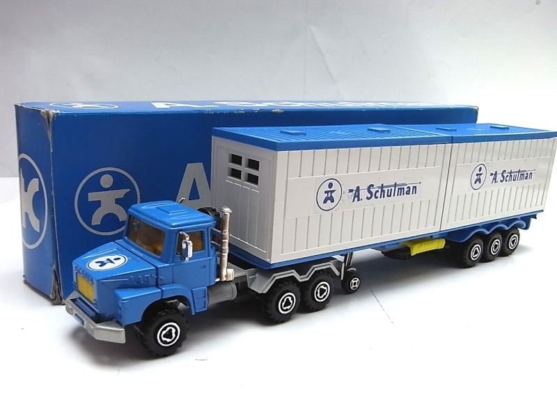 "N°3062 Scania 2x20"" Double Container 121a10"