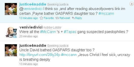 References to paedophilia in relation to the disappearance of Madeleine McCann Replie10