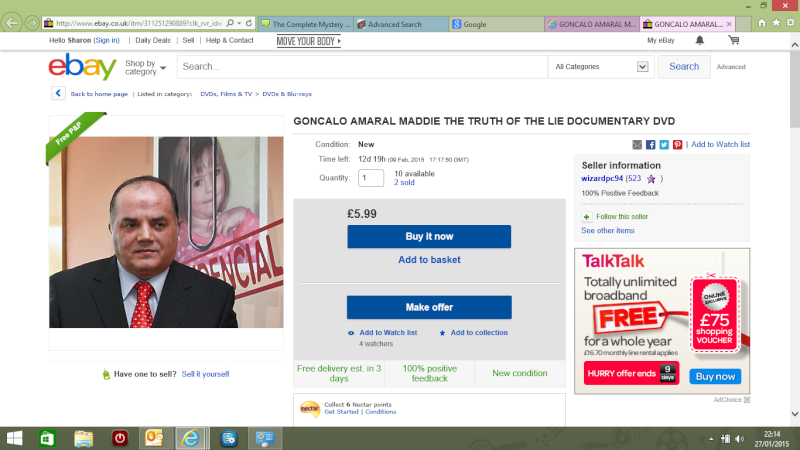 The Truth of the Lie is also on ebay Screen11