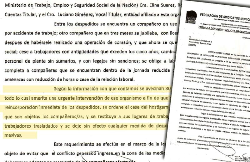 DENUNCIAN AL MUNICIPIO DE VILLA GESELL. 00119