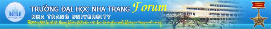 Diễn đàn trường đại học Thủy Sản Nha Trang