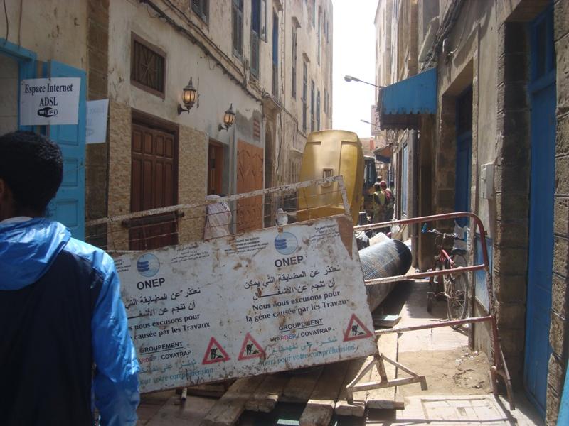 Essaouira n'en finit pas avec les travaux de son réseau d'assainissement Dsc00810