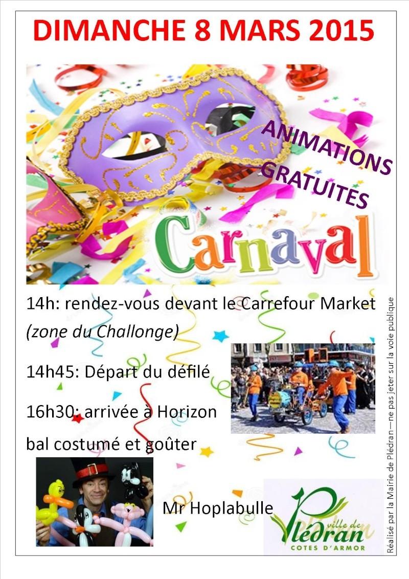 carnaval  de pledran  2015 Affich10