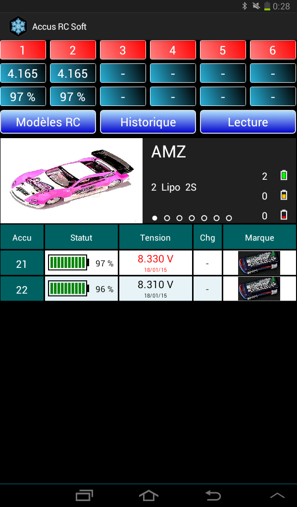 Lipo Manager Screen16
