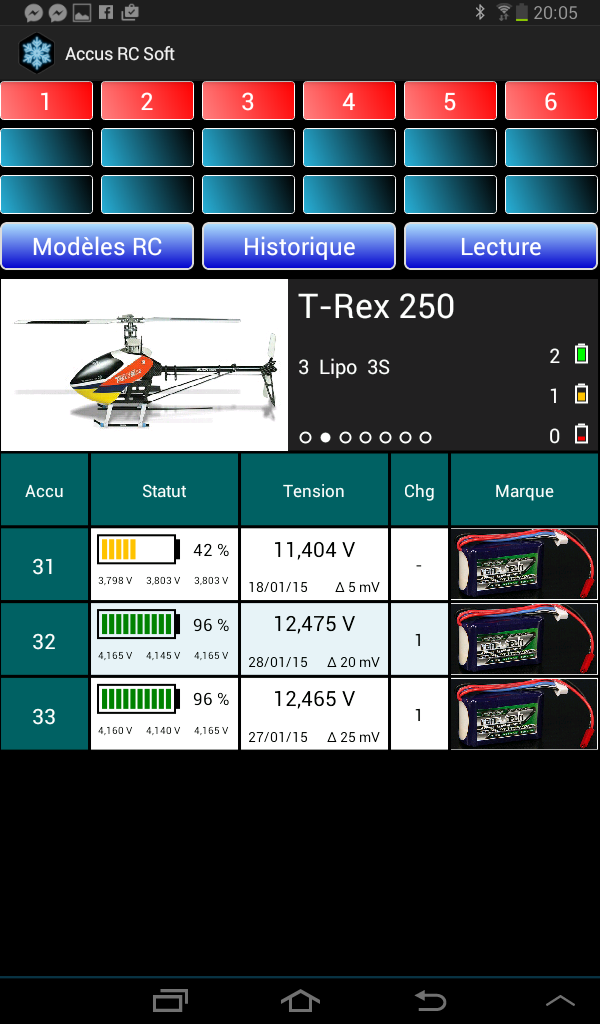 Lipo Manager Screen19