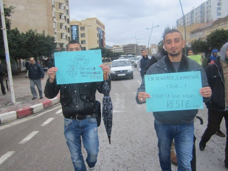 Les etudiants de Bejaia marchent contre le gaz de schiste  Sadi17