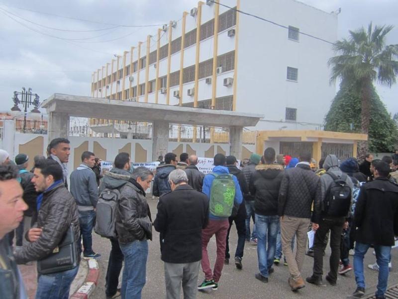 Les etudiants de Bejaia marchent contre le gaz de schiste  Sadi19