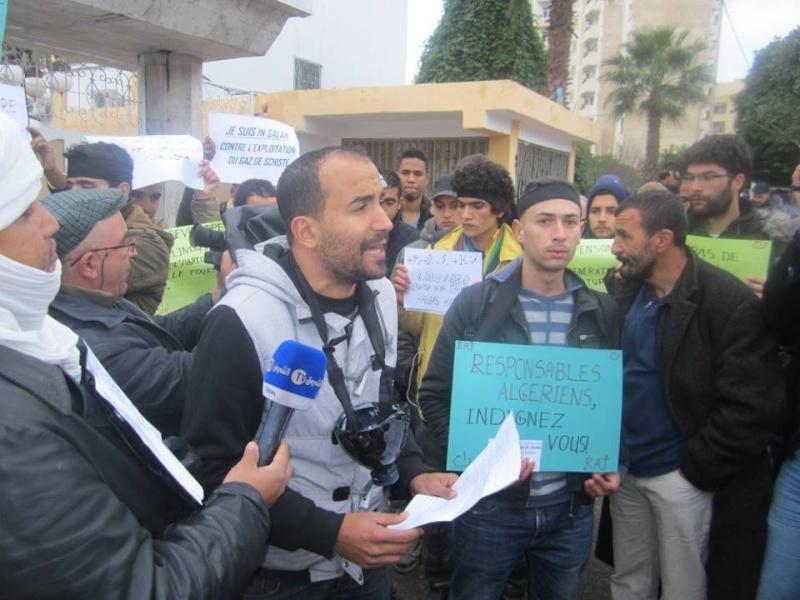 Les etudiants de Bejaia marchent contre le gaz de schiste  Sadi20