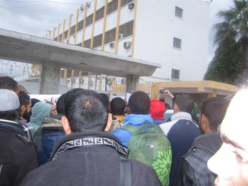 Les etudiants de Bejaia marchent contre le gaz de schiste  Sadi21