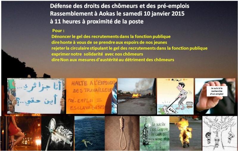 Défense des droits des chômeurs et des pré-emplois : Rassemblement à Aokas le samedi 10 janvier 2015 Travai10