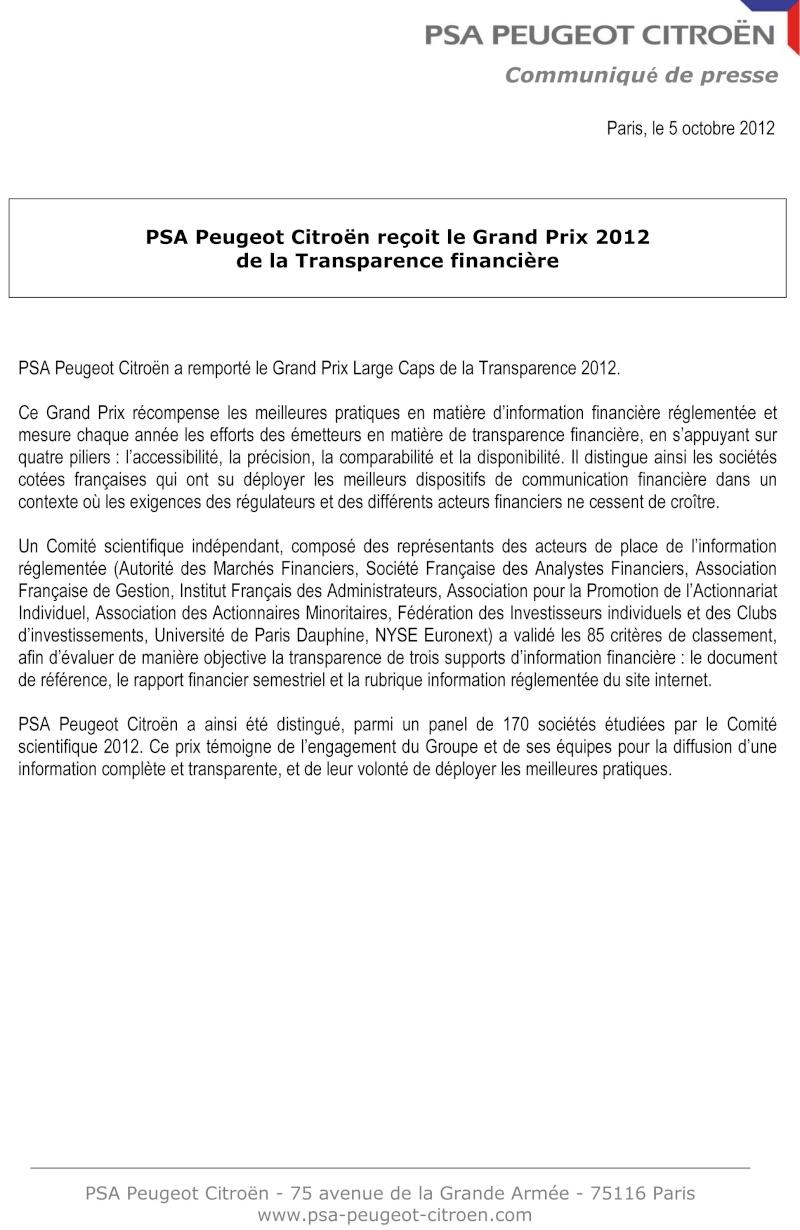 [COMMUNIQUES DE PRESSE]  PSA Peugeot Citroen 2012-111