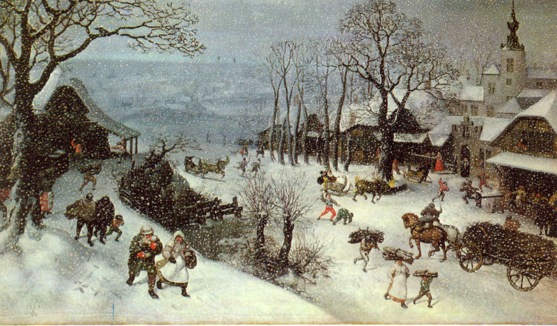 The Art History Mystery Challenge No.41 Lucas Van Valckenborch - Winterscene Winter10