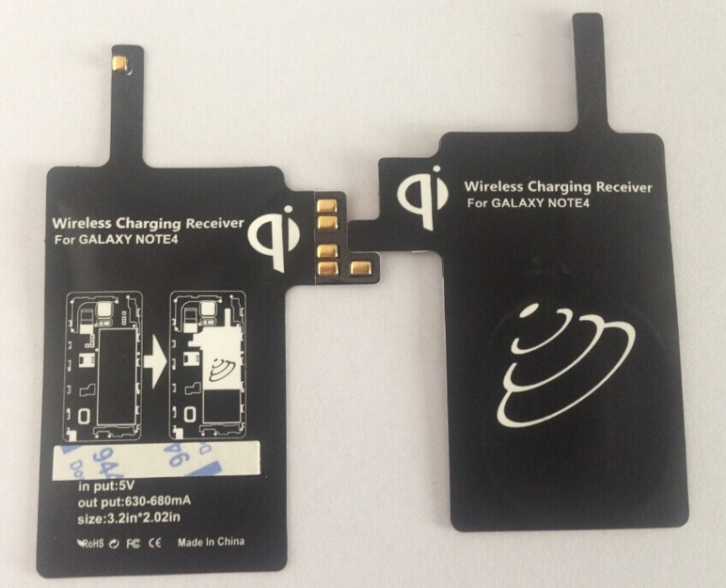 Qi wireless charging receiver for Samsung Galaxy Note 4 WSR-NT4 Wsr-nt10