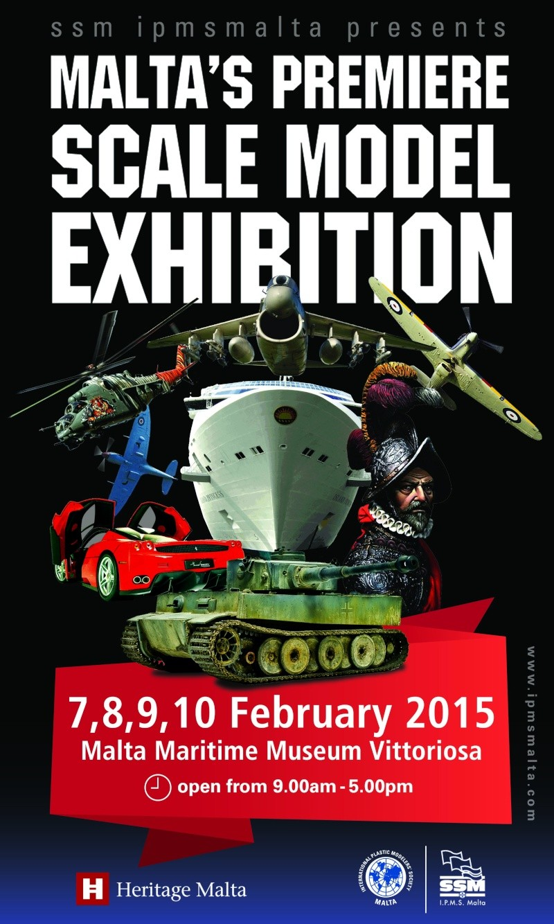 SSM/IPMS MALTA SCALE MODEL EXHIBITION 7 - 10 FEBRUARY 2015, MARITIME MUSEUM VITTORIOSA His20111