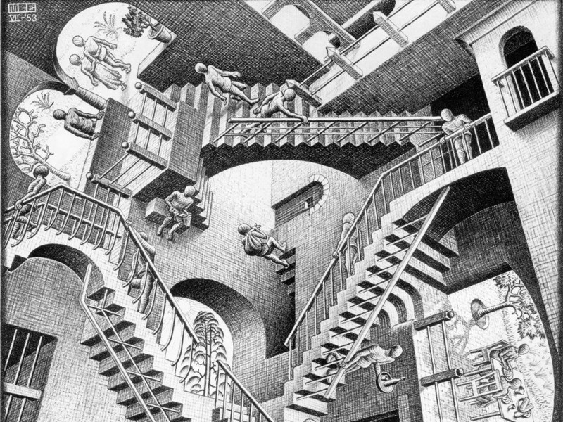 Les escaliers du monde (sujet participatif) Escher10