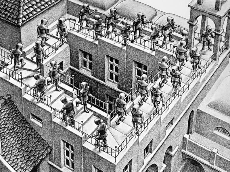 Les escaliers du monde (sujet participatif) Escher11
