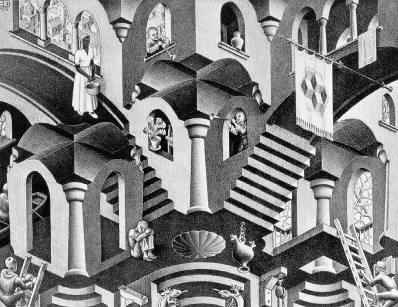 Les escaliers du monde (sujet participatif) Escher12