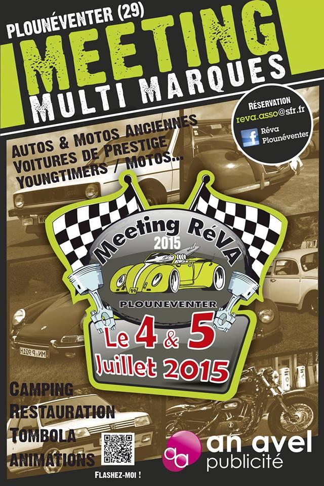 4 et 5 Juillet 2015 - Rassemblement multimarques anciennes, yougtimer et motos à Plouneventer (29) 10922410