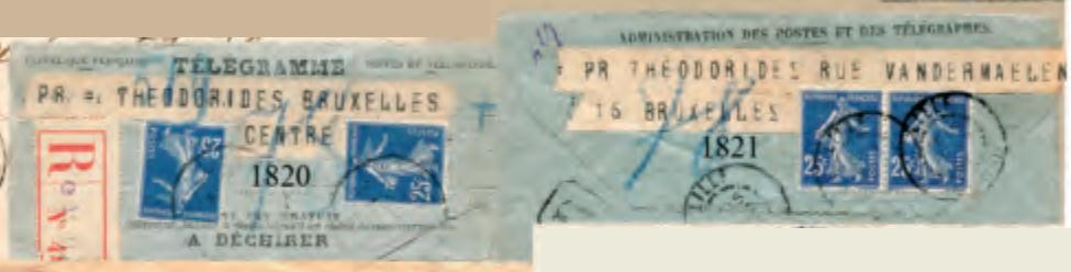 Télégramme pour l'étranger Cc10