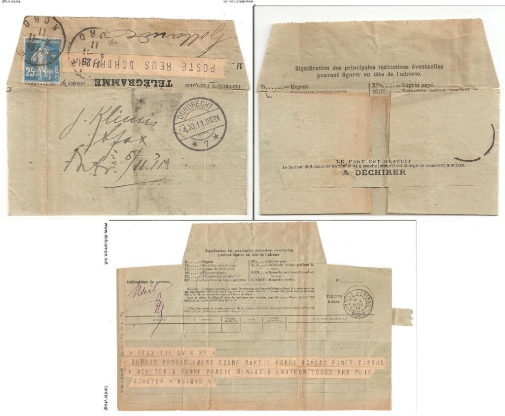 Télégramme pour l'étranger Tzolzo10