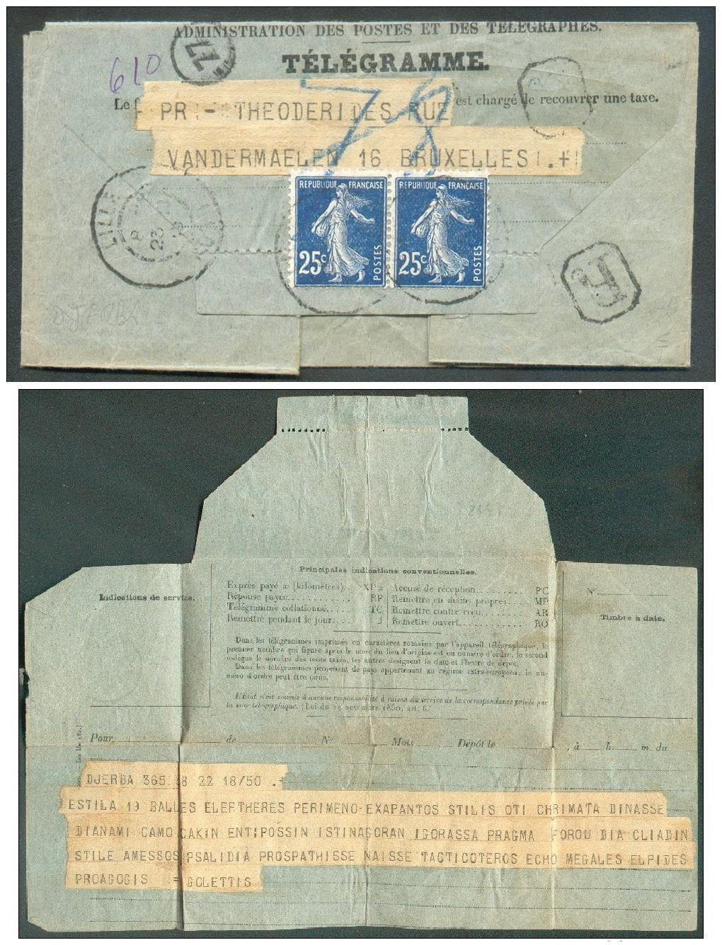 Télégramme pour l'étranger Tzolzo13