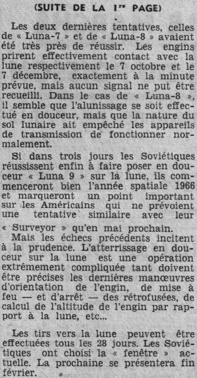31-1-1966 - Luna 9 - 1er atterrissage en douceur sur la Lune 66020211