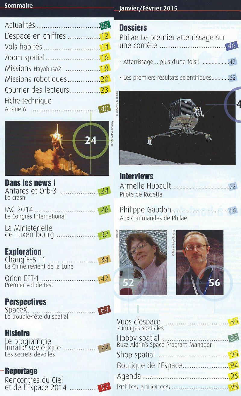 Espace & Exploration n°25: 1er atterrissage sur une comète Sommai10