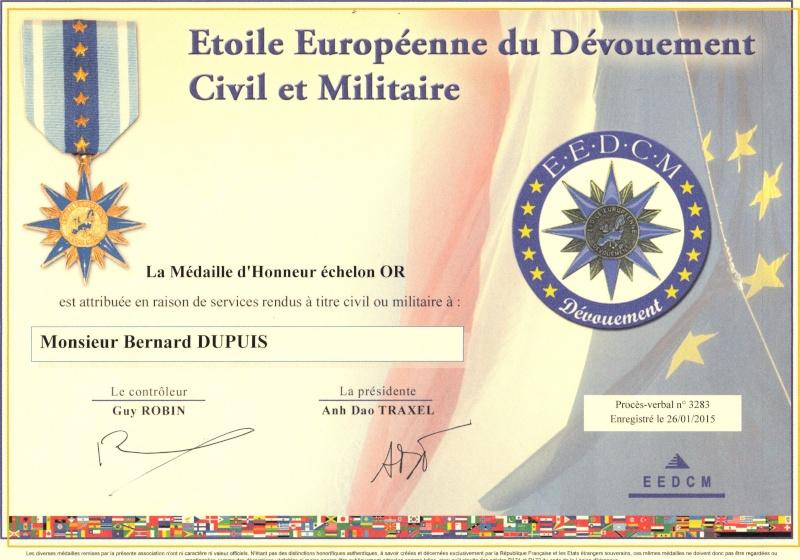 Etoile Européenne du Dévouement Civil et Militaire (EEDCM) Eedcm111