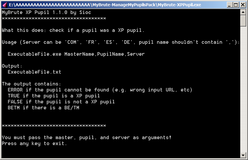[RELEASE] MyBrute List Manager / XP Pupil / N Fights P-xppu10