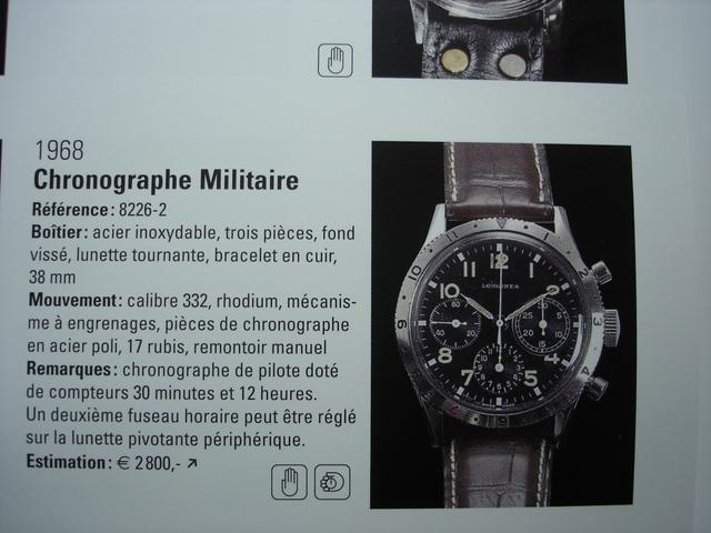 Longines type aviation Chronographes très rares, avec et sans lunette, compteur des minutes et aiguilles différentes des deux versions Dsc00110