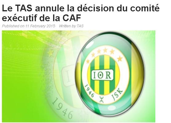 "Affaire ""Albert EBOSSE"" (Sanctions FAF+CAF) - Page 17 20150221"