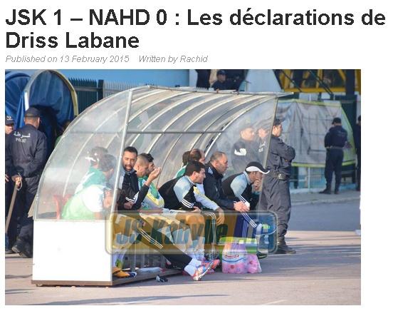[L1, Journée 20] JS.Kabylie 1 - 0 NA.Hussein Dey (Après Match) - Page 4 20150224