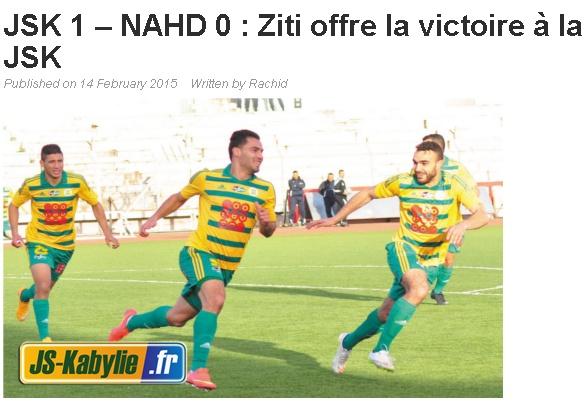 [L1, Journée 20] JS.Kabylie 1 - 0 NA.Hussein Dey (Après Match) - Page 4 20150226
