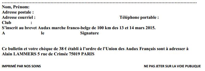 100 km Audax franco-belge; Lille; 13-14 mars 2015 Audax_10