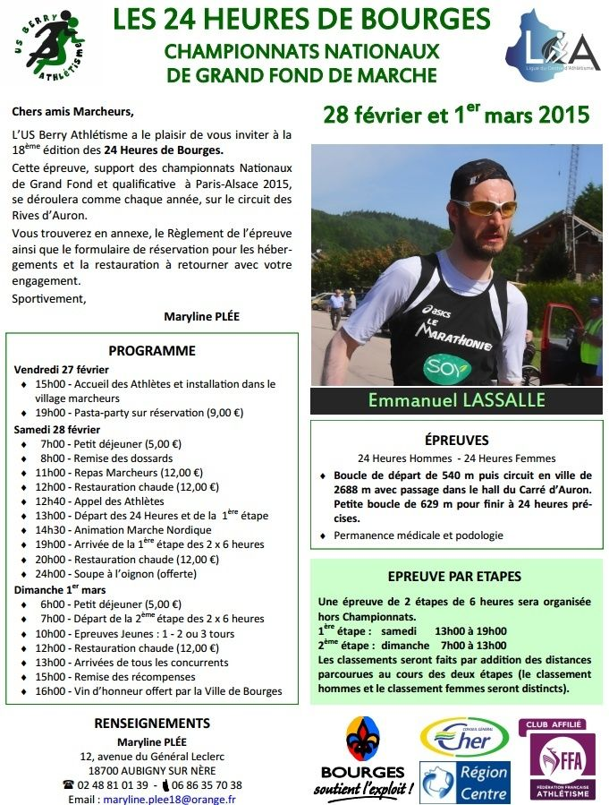 24 h Bourges, chpts nationaux de grand fond: 28/2/-01/3/2015 Bourge10