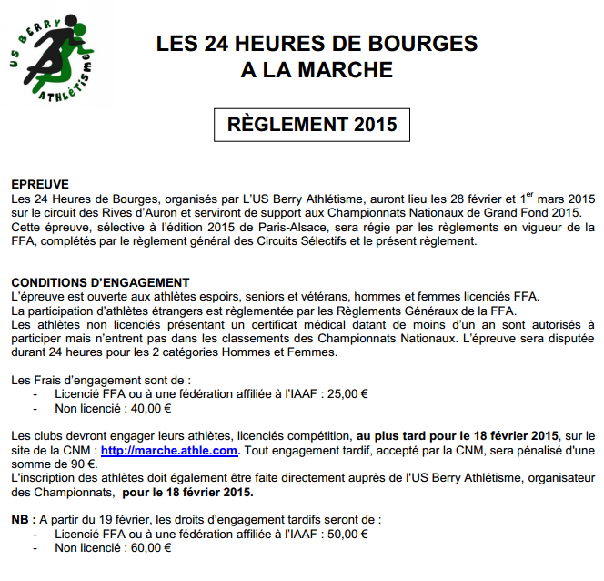 24 h Bourges, chpts nationaux de grand fond: 28/2/-01/3/2015 Bourge12