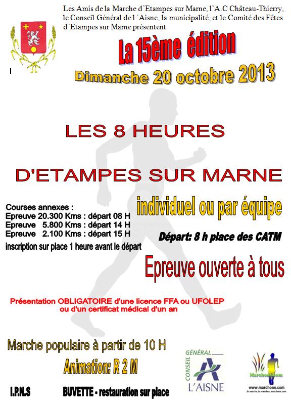8 heures d'Etampes : 20 octobre 2013;  ANNULEES Etampe11