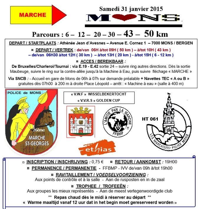 26ème marche Saint Georges, 50km; Mons (B): 31/1/2015 Stgeor10